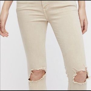 NWT Free People Busted Knee Skinny Jeans
